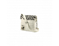 Grote kinder schoudertas zebra wit